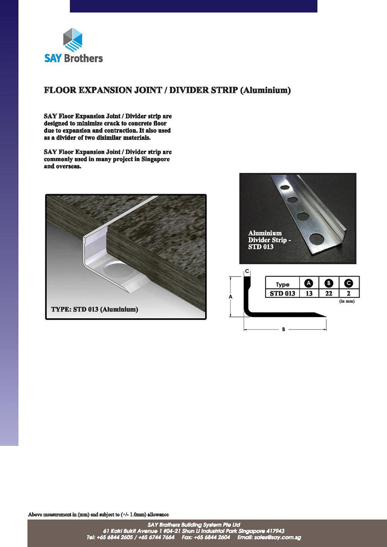 Aluminium divider strip pic