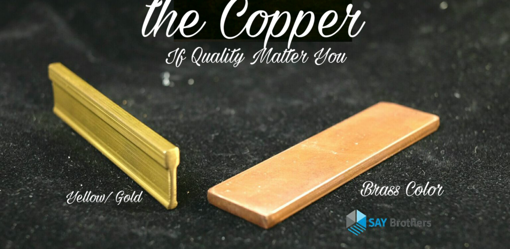 Copper floor strip