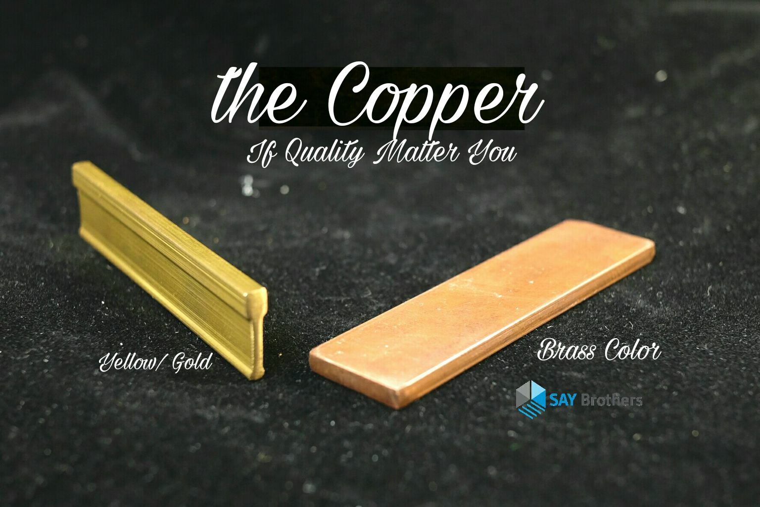Copper floor strip