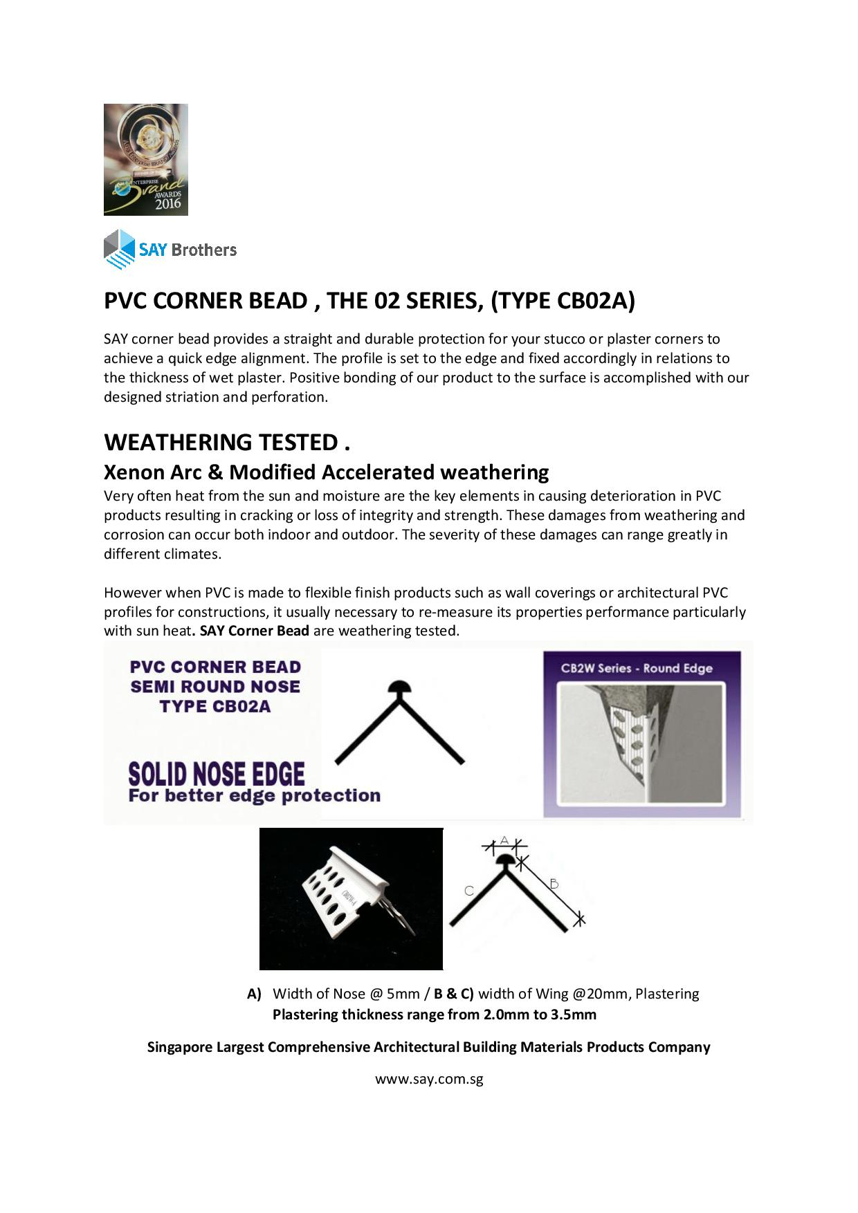 Corner bead cb02 catalog