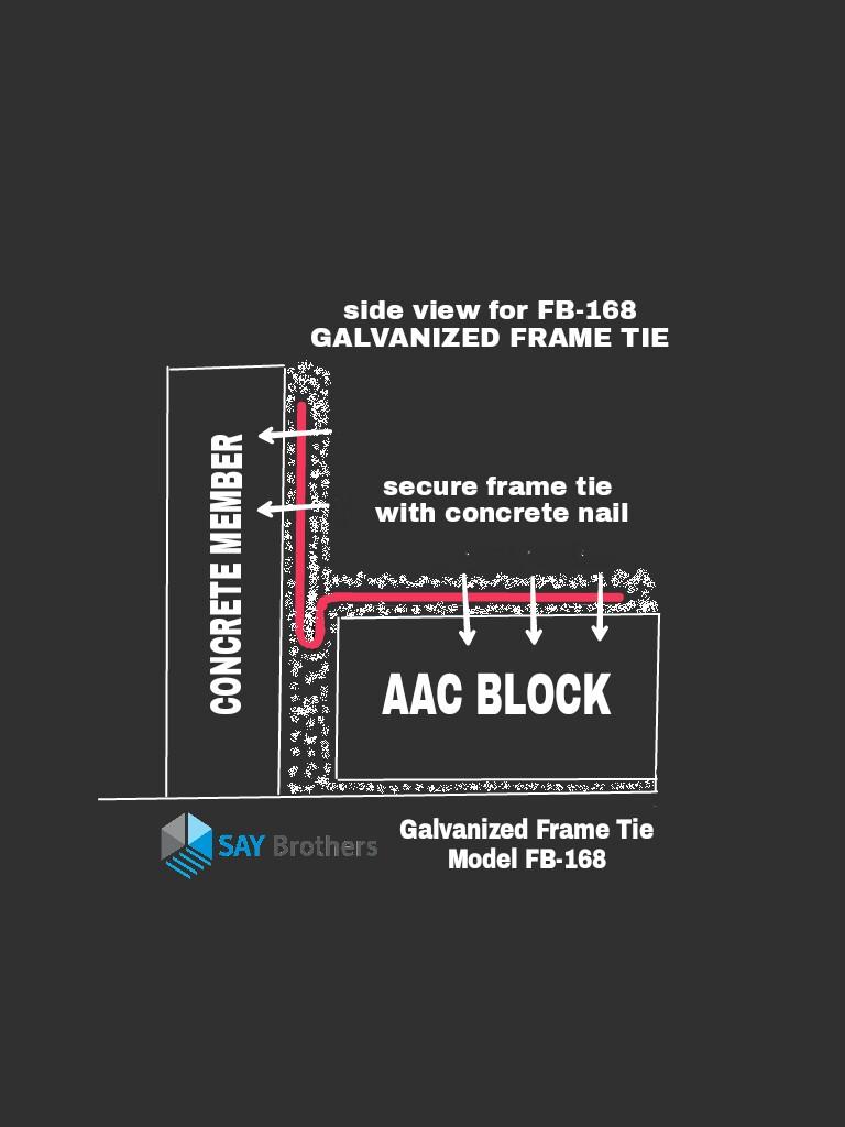 Galvanized Frame Tie FB168