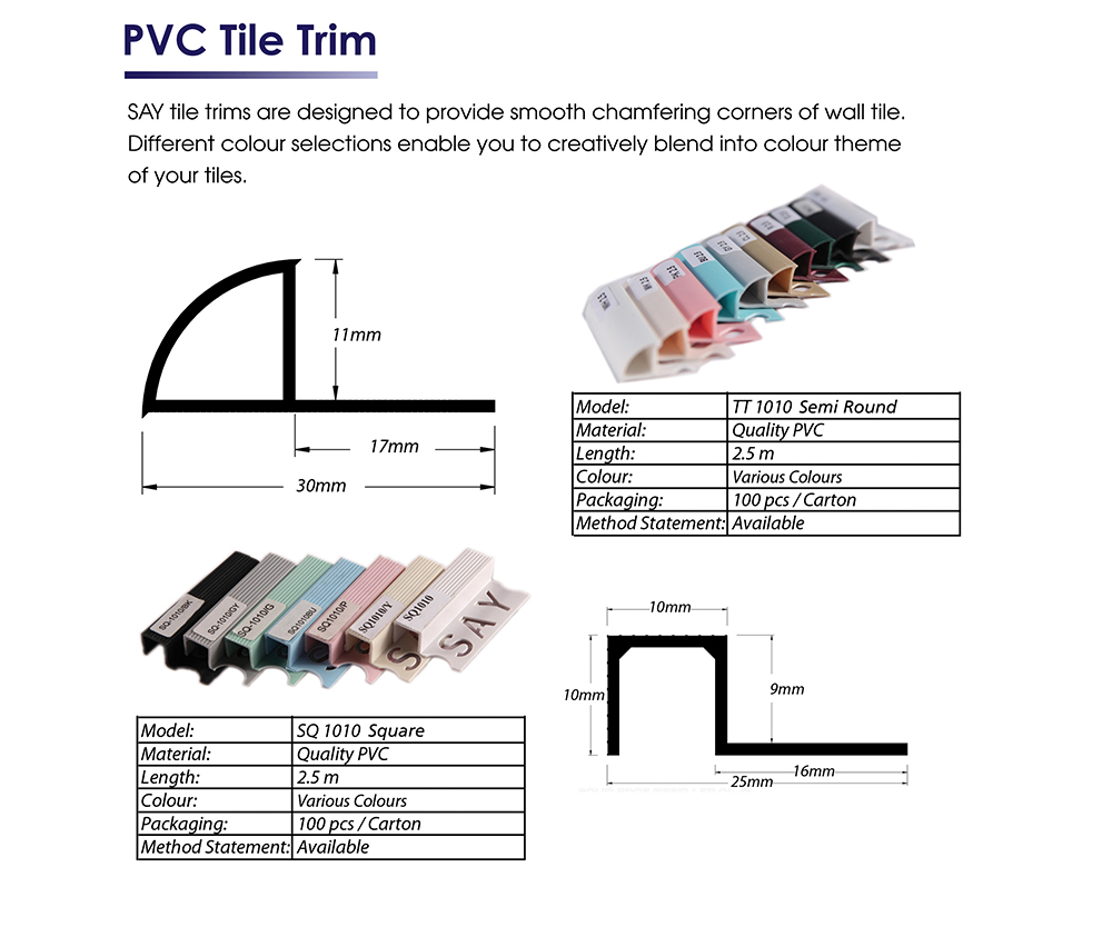 PVC tile trims pic