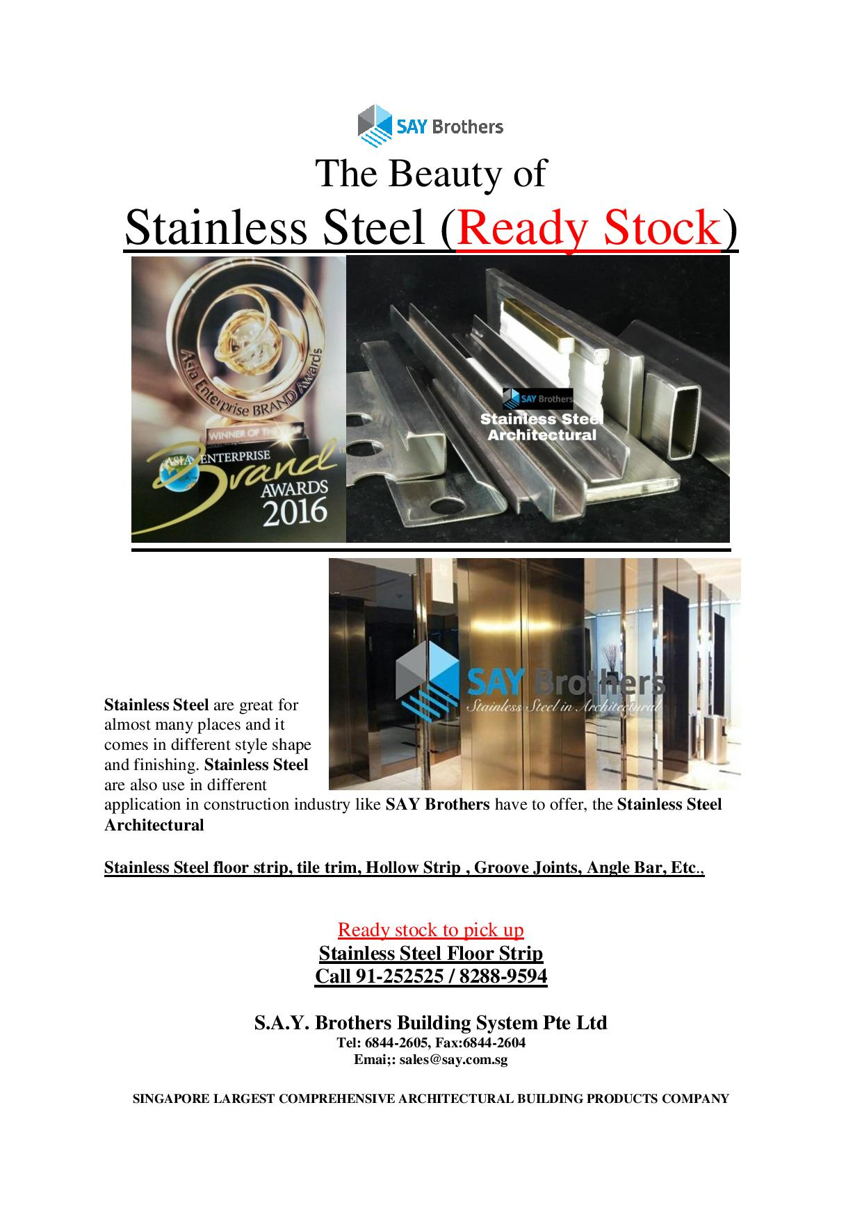 STAINLESS STEEL FROM SAY