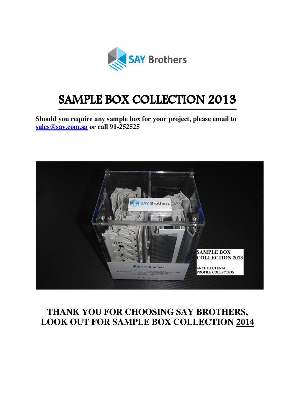 Sample box 2013 pic