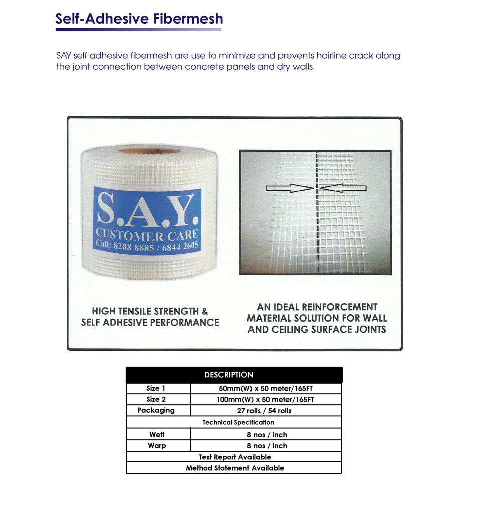 Self adhesive fibermesh pic