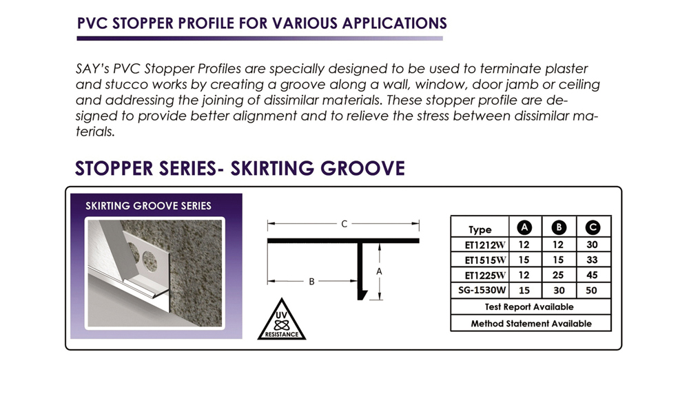 Skirting groove pic
