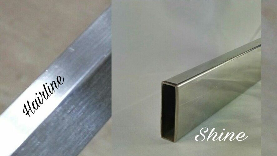 Stainless Steel Hairline finish