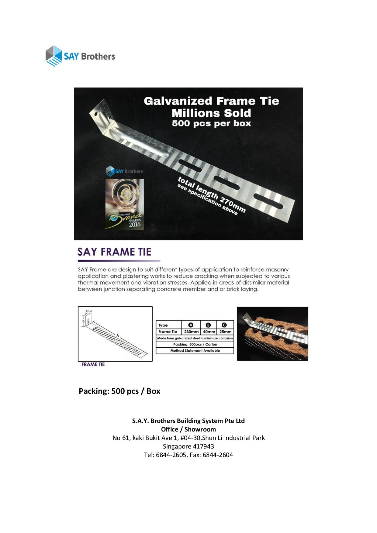 frame tie